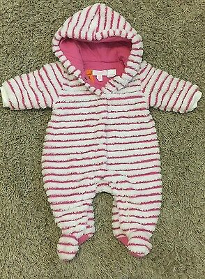 Pumpkin Patch Pink And White Fluffy Suit Size 000