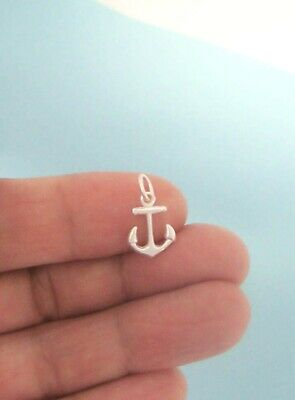 Sterling Silver Small Anchor Charm 3D, Mini, USA Seller