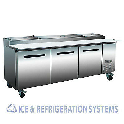 "Sun Ice Commercial 94"" Pizza Prep Refrigerator Cooler Table SUNPT-93"