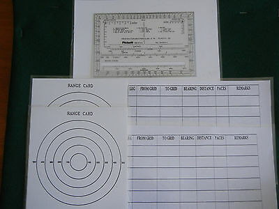 Observation Post Range Card, Navigation Set