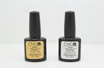 CND Shellac Base Coat +Top Coat vernis de finition a ongle semi-permanent uv led