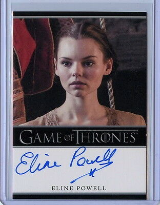2017 Game Of Thrones Season 6 ELINE POWELL Bordered Autograph