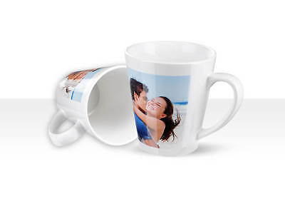 Personalised Latte Mug Cup with your PHOTO, TEXT, Logo, Gift Or Any Design