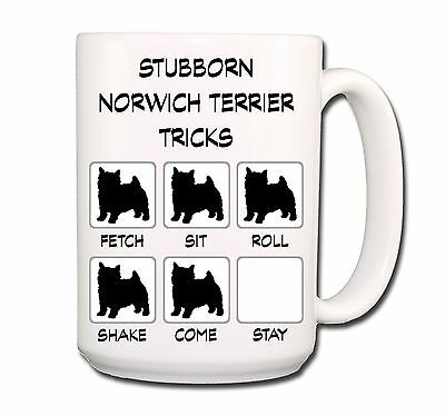 NORWICH TERRIER Stubborn Tricks EXTRA LARGE 15oz COFFEE MUG