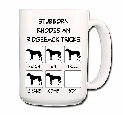 RHODESIAN RIDGEBACK Stubborn Tricks EXTRA LARGE 15oz COFFEE MUG