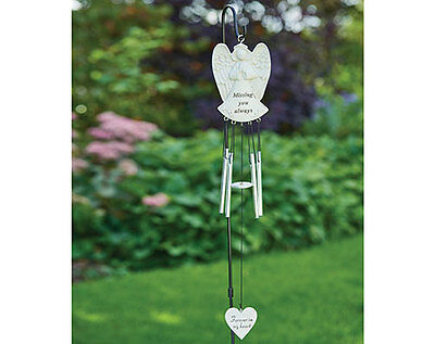 Angel Wind Chime Ornament Chimes Hanging memorial Heart Missing Garden Outdoor