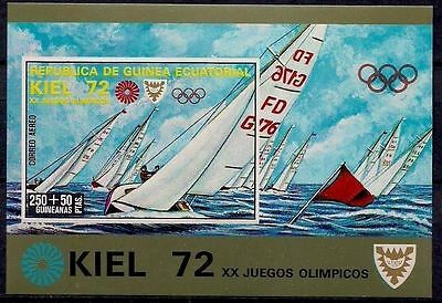 Equatorial Guinea 1972 Kiel Olympic Games Sailing Yachting m/s Imperf MNH