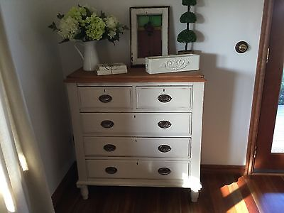 Vintage refurbished Chest of Drawers Shabby provincial