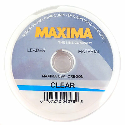 Maxima Clear Fishing Line Leader Wheel Shock Resistant Tippet Spool