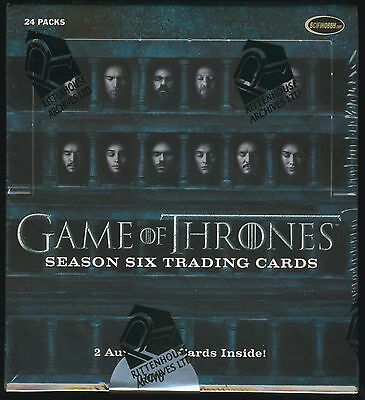 2017 Rittenhouse Game of Thrones (Season 6/Six) Trading Cards SEALED HOBBY BOX