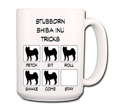 SHIBA INU Stubborn Tricks EXTRA LARGE 15oz COFFEE MUG