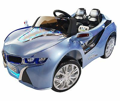 2017 BMW i8 12-volt Battery Powered Electric Ride On Kids Toy Car Remote -Blue