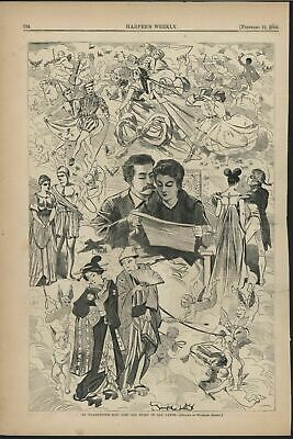 St Valentines Day Old Story in All Lands 1868 antique W. Homer engraved print