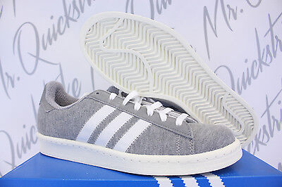 best service ea0c1 a345d Adidas Campus 80s Bw Sz 8.5 Bedwin And The Heart Breakers Grey White S75675
