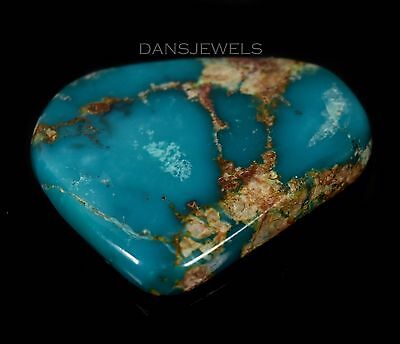 Loose Boulder Blue Green Turquoise Cabochon 8.3 Grams 41.5 Carats 1 3/8""