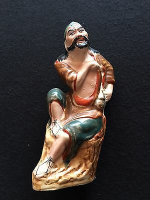 Vintage Old Chinese Porcelain Statue 2 With Mark