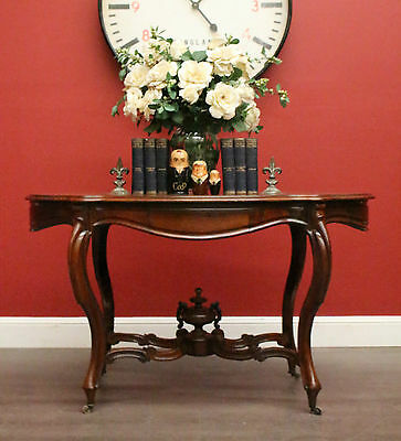 Antique French Rosewood 2 Drawer Hall / Centre / Display Lamp Foyer Table c1870