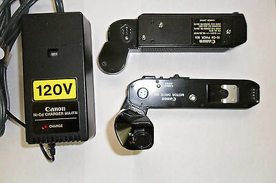 Canon MA Motor Drive with Canon Ni-Cd MA Pack and Charger