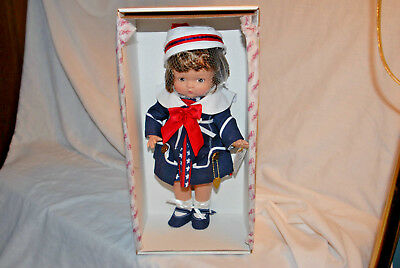 12 inch girl,  Effanbee doll dress in USA Colors to go boating.