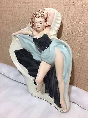 Vintage Art Deco Nude Woman Wall Hanging