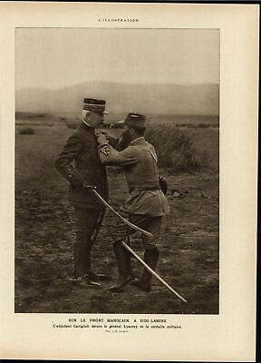 French Army North Africa Morocco Front 1915 World War I vintage historic print