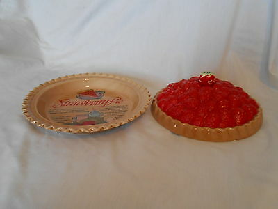 Vintage Covered Strawberry Pie Recipe Plate