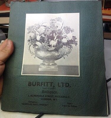 RARE 1937-38 ANTIQUE British STERLING SILVER Items CATALOG by BURFITT of London