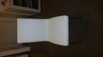 6 White Faux Leather Dining Chairs