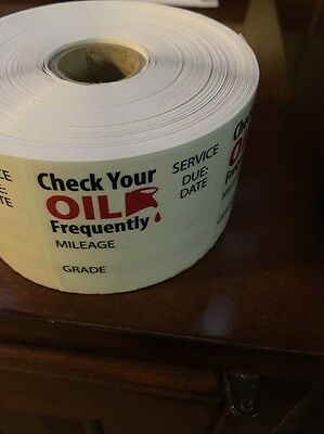 Oil Change reminder Stickers 500 Stickers (1 Roll of 500 Stickers) - Free Ship