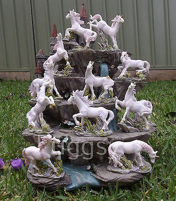 12 Unicorn Figurine 5-9cm Mystical Fairy Garden Ornaments MOUNTAIN Display Stand