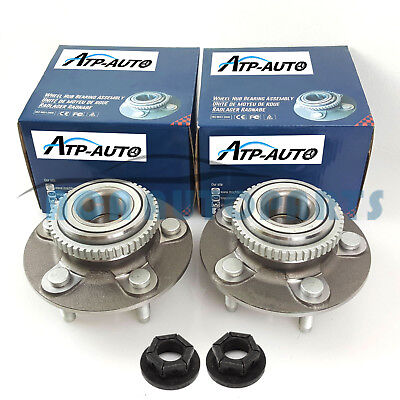Pair Genuine Machter Ford Falcon Front Wheel Bearing Hubs w/ Nuts AU/BA/BF