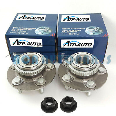 Pair Genuine Machter for Ford Falcon Front Wheel Bearing Hubs w/ Nuts AU/BA/BF