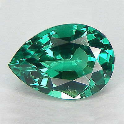 AAA Rated EXCELLENT CUT LAB CREATED NANOCRYSTAL EMERALD PEAR 5x3mm-30x20mm