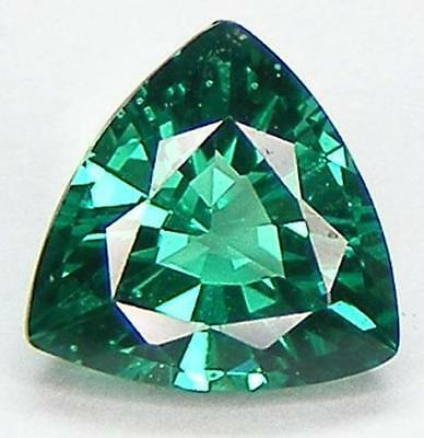 AAA Rated EXCELLENT CUT LAB CREATED NANOCRYSTAL EMERALD TRILLION 5x5mm-20x20mm
