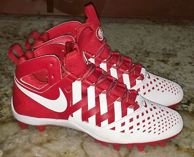 NIKE Huarache V LAX Mid Red White Molded TD Lacrosse Cleats NEW Mens 9 10 11 13