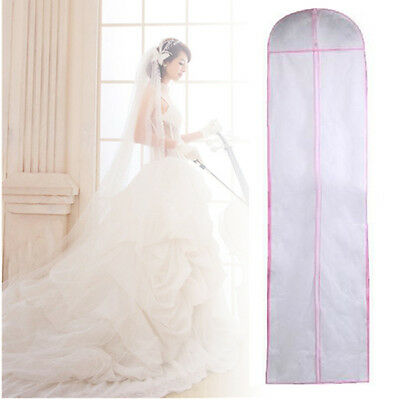 155cm/180cm Long Wedding Dress Bridal Gown Garment Cover Storage Bag Carrier Zip