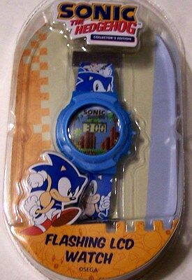Sonic the Hedgehog Blue Flashing LCD Watch HOT GIFT! Sega Video Game Character