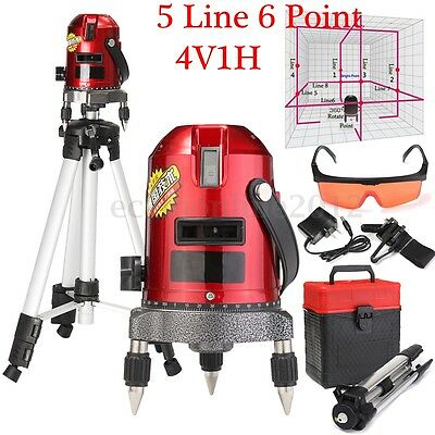 Automatic Self Leveling 5 Lines 6 Points Professional Laser Level Meter + Tripod