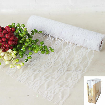 2M Vintage Lace Table Runner Party Decoration Rustic Bridal Shower Wedding Cloth