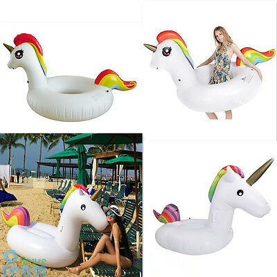 Giant Unicorn Inflatable Water Float Raft Swimming/Rubber Ring Beach Sports Toy