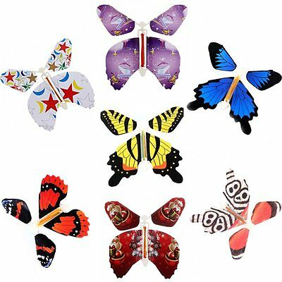 7pcs Transform Flying Butterfly Change From Empty Hands Freedom Butterfly Tricks