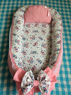 New Baby Nest Pod with removable cover and pillow, 0-12m