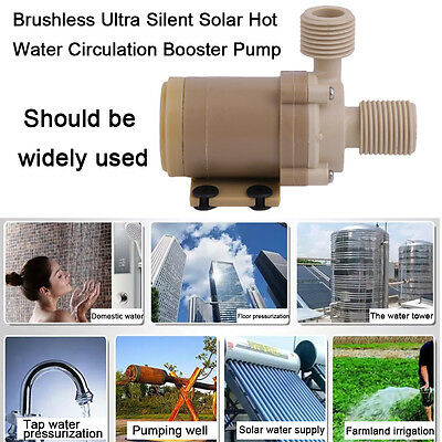 12V DC Brushless Ultra Silent Solar Hot Water Circulation Booster Pump BB