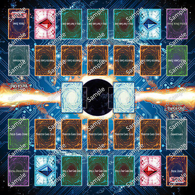 Design by Jimmy New Zone Yugioh Two Player Playmat Custom Made Play Mat #001