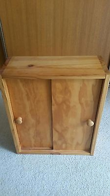 Barbie doll wooden wardrobe, 8 barbie dolls, clothing and shoes