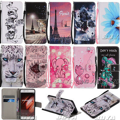 Magnetic Flip Folio Case for Huawei P10/Mate9 Phones PU Leather Protective Cover