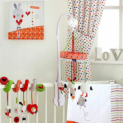New Red Kite Carousel Musical Mobile Wind Up Cot / Cot Bed Baby Toy Cotton Tail