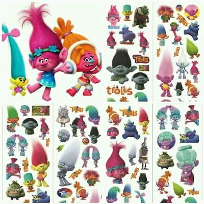 10 x TROLLS, poppy,   Stickers Party Bag Fillers Birthday party favours, games