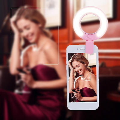 USB Recharge ricaricare Selfie LED Flash Light photography For iPhone Samsung