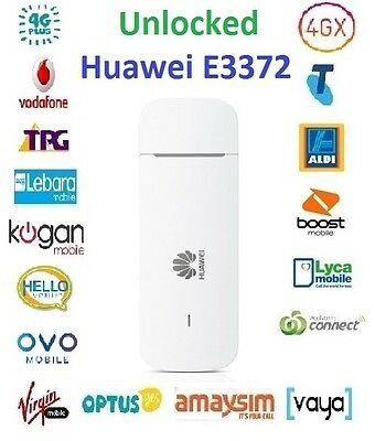 New *Unlocked* Huawei E3372 4G USB Modem w/Antenna ports(All Carriers)